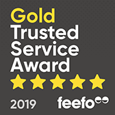 Feefo Gold Trusted Service 2018